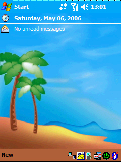 Pocket PC Theme - Tropical