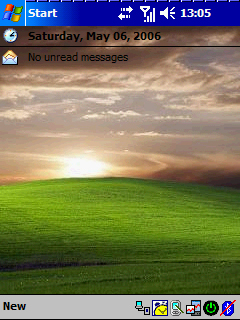 Pocket PC Theme - Windows Vista Sunset