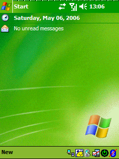 Pocket PC Theme - Windows Mobile Green