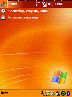 Pocket PC Theme - Windows Mobile Orange