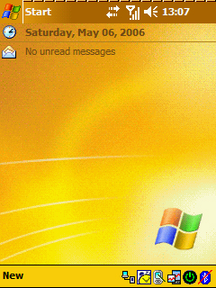 Pocket PC Theme - Windows Mobile Yellow